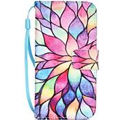 Tuta A portafoglio / A fantasia Fiore decorativo Similpelle Difficile Copertura di caso per AppleiPhone 7 Plus / iPhone 7 / iPhone 6s
