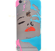 Sexy Girl HD Pattern Embossed Acrylic Material TPU Phone Case For iPhone 7 7 Plus 6s 6 Plus