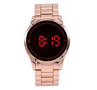 Fashion Men Women Electronic LED Touch Gold Band Watch Casual Sports Digital Watch New Men Male Watch