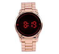Masculino Relógio de Pulso Relogio digital Digital LED sensível ao toque Lega Banda Pendente Rose Rosa