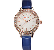 Women's Fashion Quartz Casual Watch Small Leather Belt Diamond Round Alloy Dial Watch Cool Watch Unique Watch