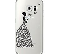 Для Samsung Galaxy S7 Edge Прозрачный / С узором Кейс для Задняя крышка Кейс для Соблазнительная девушка Мягкий TPU SamsungS7 edge / S7 /