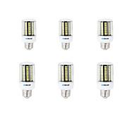 6 pcs E14 / E26/E27 / B22 LED Corn Lights 136 SMD 5733 1600 lm Warm White / Cool White Decorative AC 220-240 V