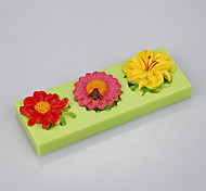 Different shape flowers shape use fondant cake decoration fimo clay mold Color Random