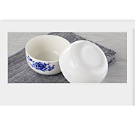 Blue And White Porcelain Bowl Set Steamed Rice Ceramic Bowl