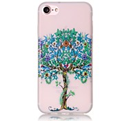 Glow in the Dark Luminous Tree Pattern Embossed TPU Material Phone Case for  iPhone 7 7 Plus 6s 6 Plus SE 5s 5