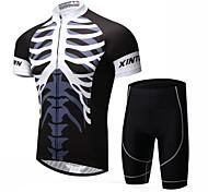XINTOWN Riding Cycling Jersey Set Men Sports Bike Bicycle Short Sleeve Jersey & Shorts S-XXXL
