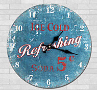 1PC European Style Rural Wooden Wall Clock  Retro Nostalgia Wood Grain Pattern(Pattern is Random)