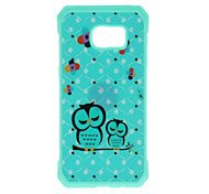 Owl Pattern Metal Plate Inlay TPU Back Case For Samsung Galaxy S7 S7E S6 S6E S6 edge plus S5