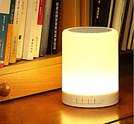 Jiawen alto-falante 4.0 de música sem fio Bluetooth inteligente conduziu a lâmpada DC 5V leitor de música noturna regulável mesa