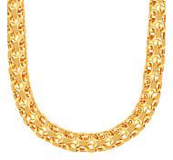 Ожерелье Ожерелья-цепочки Бижутерия Для вечеринок / Повседневные Мода Медь / Позолота Золотой 1шт Подарок