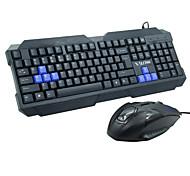 Wired Keyboard Mouse Suit High-End Gaming Keyboard P  U Set Computer Accessories