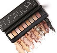 10 Paleta de Sombras de Ojos Seco / Mate / Brillo / Mineral Paleta de sombra de ojos Polvo NormalMaquillaje de Hada / Maquillaje Ojos de