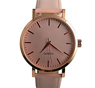 Women's Fashion Watch / Quartz PU Band Casual Black Brown Pink