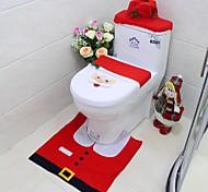 новый год лучший подарок счастливого Рождества Санта туалет чехол для сиденья& коврик для ванной комнаты установлены рождественские