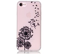 Glow in the Dark Dandelion Pattern Embossed TPU Material Phone Case for  iPhone 7 7 Plus 6s 6 Plus SE 5s 5