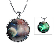 Cremation Jewelry Magical Glow in The Dark 925 Sterling Silver Luminous Stars Pendant Necklace