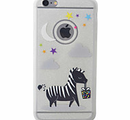 Zebra Pattern TPU Material Glitter Diamond Phone Case For iPhone 6s 6 Plus