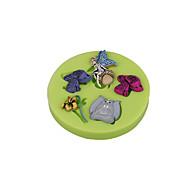 Цветок сказочный гриб силиконовый сахаристый пресс-форма для помады торт украшения инструменты шоколадный кекс цвет случайный