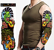 Временные тату Прочее Non Toxic Большой размер Waterproof Женский Мужской Взрослый Подростки Вспышка татуировки Временные татуировки
