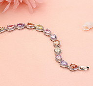 Bracelet Chain Bracelet Platinum Plated Circle Fashion Gift / Casual Jewelry Gift Lavender1pc