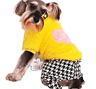 Fashion Fleece Houndstooth/ Dots Pants  for Pets Dogs (Assorted Sizes and Colours)