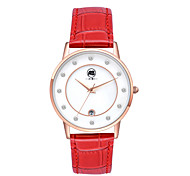 AIBI® Women's Watch Imitation Diamond Design Calendar Water Resistant/Water Proof Dress Watch Red Wrist Watch For Women With Watch Box