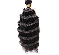 1PC TRES JOLIE Deep Wave 10-20Inch Color #2 Dark Brown Human Hair Weaves