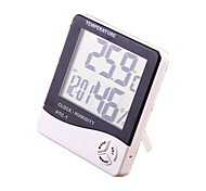 HTC-1 Indoor And Outdoor Electronic Hygrometer Baby Room Flower Digital Digital Thermometer Clock Alarm Clock