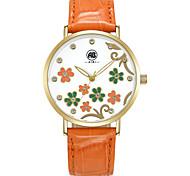 AIBI® Women's Watch Imitation Diamond Water Resistant/Water Proof Dress Watch Orange Flower Designer Wrist Watch For Women With Watch Box