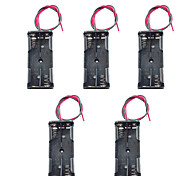 5PCS 7 Hao 2-Serial Battery Box / Battery Compartment On The 7th With Two Red And Black Line Two