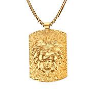 Муж. Ожерелья с подвесками Нержавеющая сталь Позолота Мода бижутерия Бижутерия Назначение Повседневные Новогодние подарки