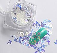 2g/box New Symphony Blue Umbrella/Flowers/High heels Paillette Glitter Nails 3d Slice Powder Set DIY Design
