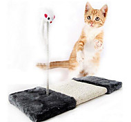 Cat Toy Pet Toys Interactive Mouse / Scratch Pad Sisal Black
