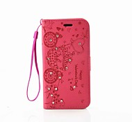 EFORCASE Carriage Embossed Diamond Lanyard PU Phone Case for Galaxy S7edge S7