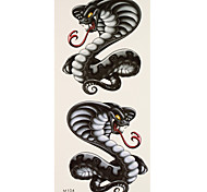 1 Tatuajes Adhesivos Series de Animal cobra flash de tatuaje Los tatuajes temporales
