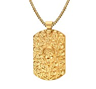 Gold Medal GhostThe King 18K Gold Necklace Men