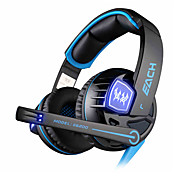 Each G6200 USB 7.1 Gaming Headphone Surround Sound Vibration System with Microphone LED Light