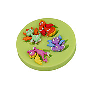 Lovely Ancient Dinosaur Silicone Sugarcraft Mold Fondant Cake Decorating Tools for Chocolate Cupcake Candy Clay Making