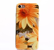 Para Funda iPhone 7 / Funda iPhone 7 Plus IMD Funda Cubierta Trasera Funda Flor Suave TPU Apple iPhone 7 Plus / iPhone 7