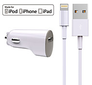 Kit caricabatterie Caricabatteria da auto Other 1 porta USB con cavo per iPad / per il cellulare / For iPhone(5V , 2,4A)
