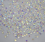 120PCS DIY Tips Nails Glitter Rhinestones Non Hot Fix 3d Nail Art Crystal Studs Decorations Stickers Nail Tools SS10 AB Series