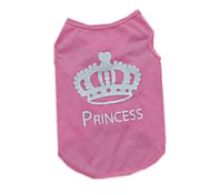 Fashion Cotton Crown Pattern Pet Shirt Dog Clothes Apparel Clothing Summer Breathable Vest T-Shirt