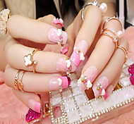 Manicure Finished Bride Fake Nails False Nail Patch 24 Manicure Peach Nail Products