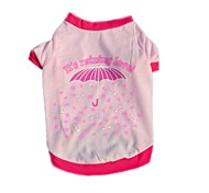 Cute Pink Red It's Raining Loved Cotton Dog Shirt Summer Dog Clothes for Pets