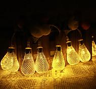 Jiawen 5m 10 LED metallo scende luci stringa matrimoni patio luci di Natale decorazioni di vacanza camera da letto (AC 110-220V)
