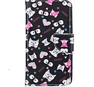 Black Cat Pattern Painting PU Material Phone Cover For LG LG K10 K8 K7