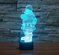 Santa Claus Touch Dimming 3D LED Night Light 7Colorful Decoration Atmosphere Lamp Novelty Lighting Christmas Light