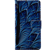 For Sony Xperia X XA Case Cover Blue Flowers Pattern Painting PU Leather Material Card Stent for XP XZ