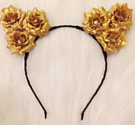 Light Up Cat Ears Flower Headband Led Rose HeadbandKitty Headband Halloween GiftChristmas Gift Party Gift Idea